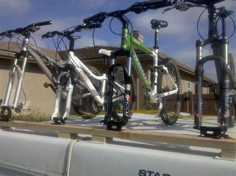 diy bike rack for pop up cer score