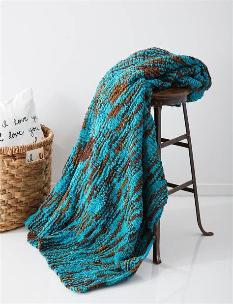 bernat free knitting patterns bernat big basketweave blanket knit pattern yarnspirations
