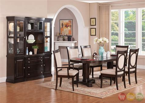 transitional dining room sets tony transitional cherry finish wood formal dining