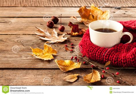 coffee autumn wallpaper hot coffee and autumn leaves on vintage wood background