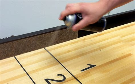 how to get wax a table how to wax a shuffleboard tablemcclure tables