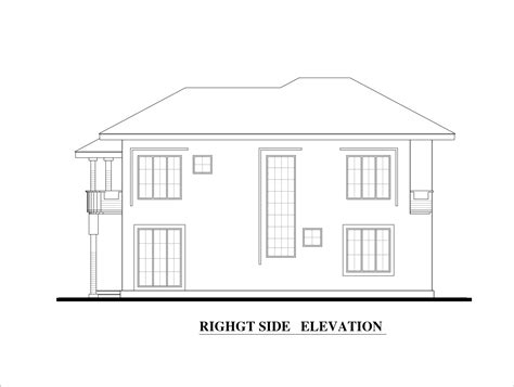 autocad tutorial house design elevation four bed room double story house plan