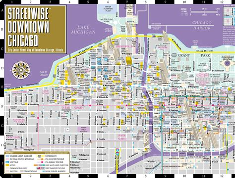 map of downtown chicago downtown chicago map map3