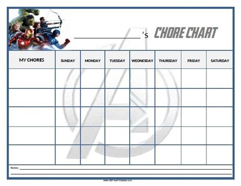 printable avengers reward charts free printable avengers chore chart home pinterest