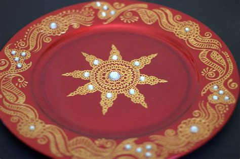 henna design plate henna design decorative plate henna harmony candles and