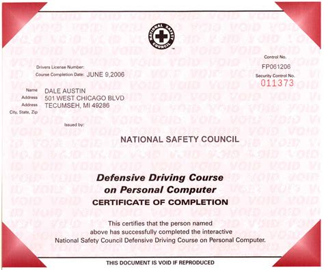 driving certificate template certificates
