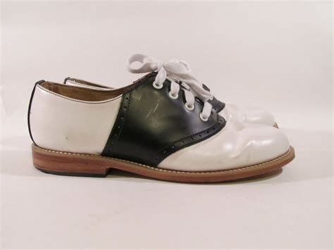 vintage original muffy s black and white saddle shoes size