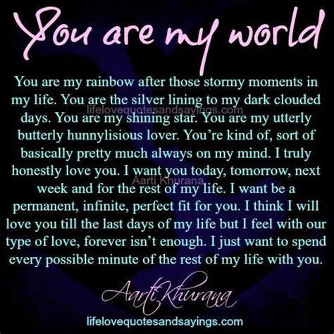 you are my quotes you are my world quotes images image quotes at hippoquotes