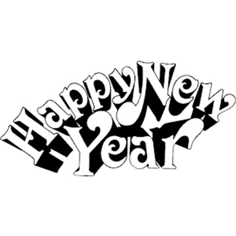 new year clipart black and white happy new year black and white clipart clipart suggest