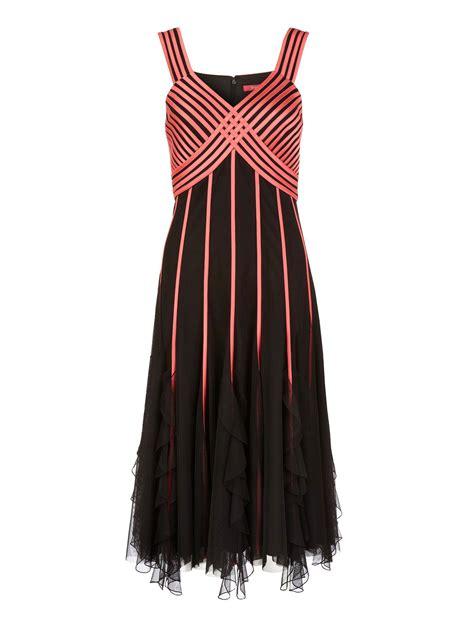 Dress Ribbon jacques vert flamingo ribbon dress in black lyst