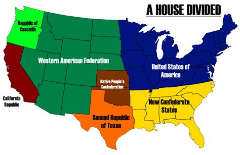buy a house usa a house divided map of america by alternatehistory on