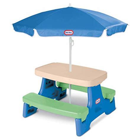 tikes easy store jr picnic table tikes easy store jr picnic table with umbrella