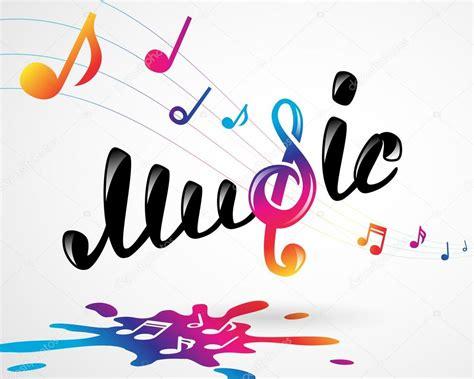 imagenes para logos musicales logo de m 250 sica colores sobre blanco vector de stock
