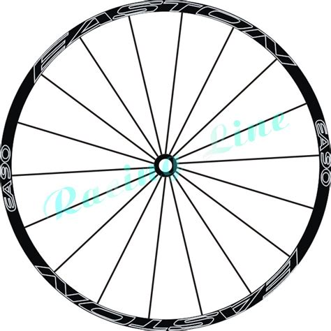 Bicycle Wheel Outline by Outline Wheel Reflective Stickers Mountain Bike Disc Wheel Decals Wheel Decorative Mtb Wheel