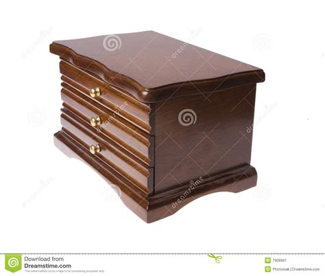 Wooden Box With Drawers by Wooden Box From Drawers On Jewellery Royalty Free Stock