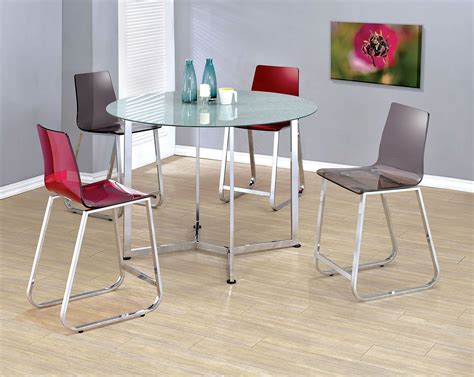 chrome dining room sets yvetti chrome counter height dining room set
