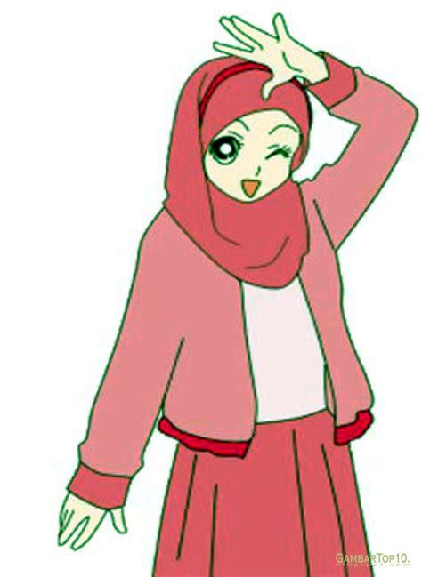 anime hijab gaul 10 gambar kartun muslimah gambar top 10