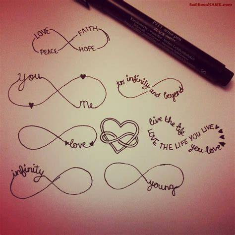cute infinity tattoo designs images designs
