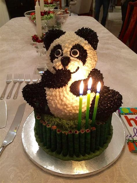 156 best Panda Cakes images on Pinterest   Panda cakes