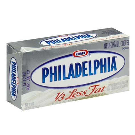 Cheese Neufchatel kraft philadelphia neufchatel cheese 1 3 less brick