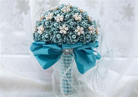 Buket Bunga Biru bunga mutiara