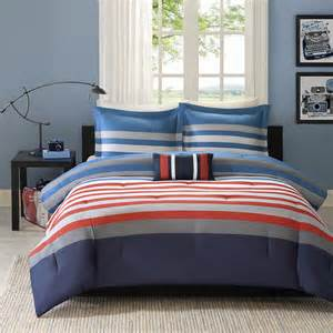 red white blue twin or full queen comforter set teen