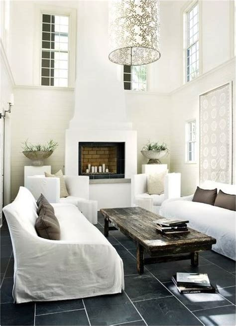 White Living Room Wood Floors Decorating With White Centsational