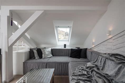 modern loft apartment modern attic loft with grey palette in prague