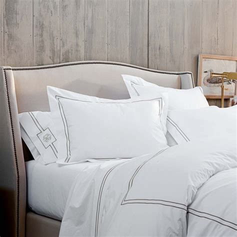 Upholstered Headboard With Wood Trim Upholstered Bed With Wood Trim Modern Bedroom Ideas With White Bedding Linen And Upholstered