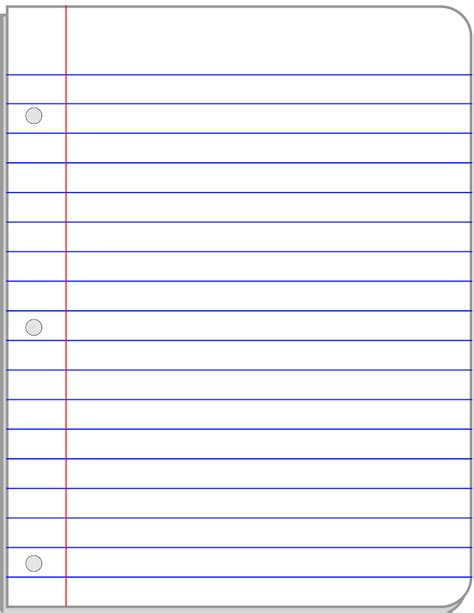 free notepad template notebook templates free clipart best