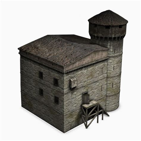 tower house 3ds max medieval tower house
