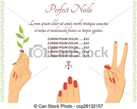 clipart vector of manicure hands vector template flyer
