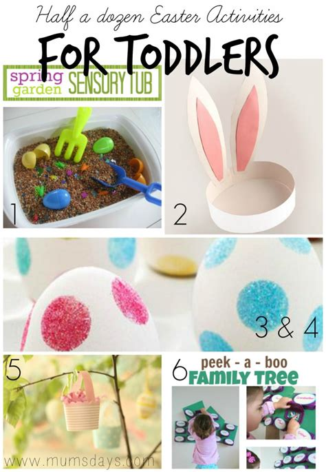 easter activity ideas for half a dozen easter activities for toddlers mums days