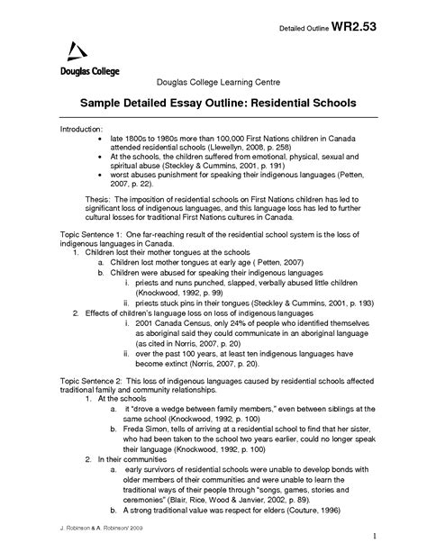 Detailed Essay Outline Template best photos of detailed outline apa format exles apa