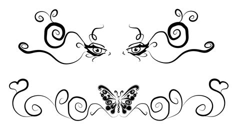 free butterfly tattoo designs to print lower back tattoos