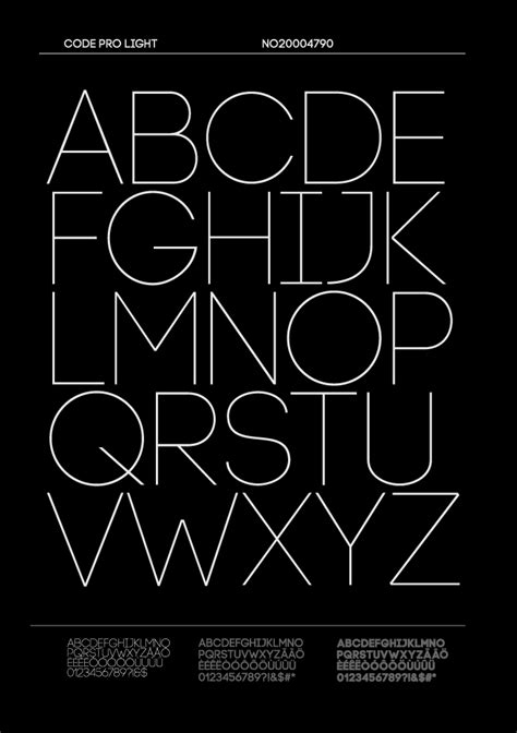 Code Light Font by Code Pro Fontfabric