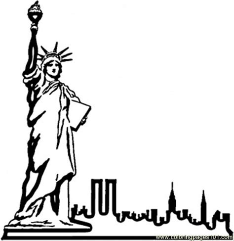 statue of liberty drawing template statue in nyc coloring page free usa coloring pages