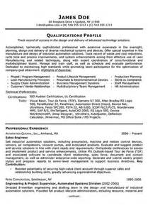 Forensic Engineer Sle Resume by Sales Engineer Resume Exle Resume Exles Engineers And Resume