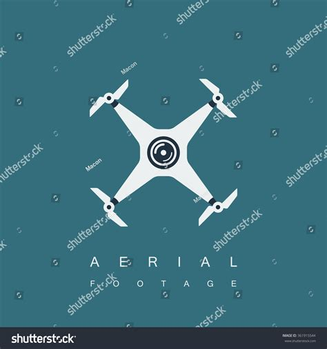 Drone Quadrocopter Logo Template Camera Aerial Stock Vector 361915544 Shutterstock Aerial Photography Website Templates