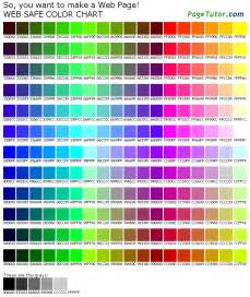 colors chart 216 color chart
