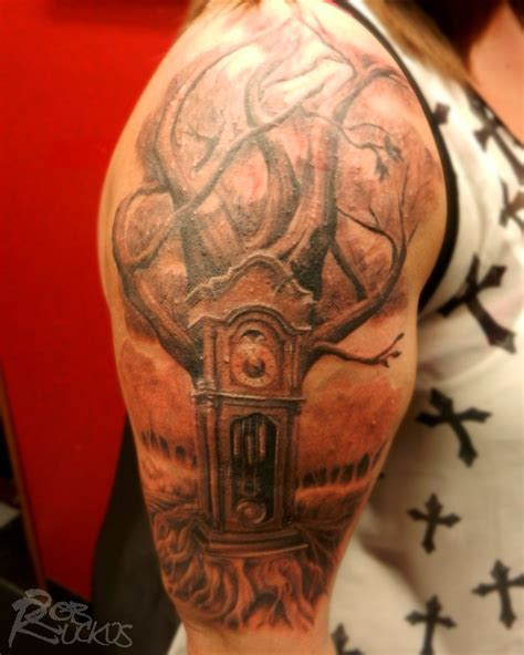 grandfather clock tattoo grandfather clock tree by robruckus on deviantart
