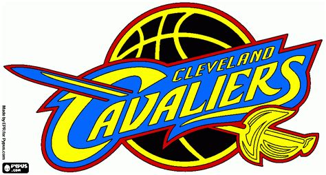 Cleveland Search Cleveland Cavaliers Logo Coloring Pages