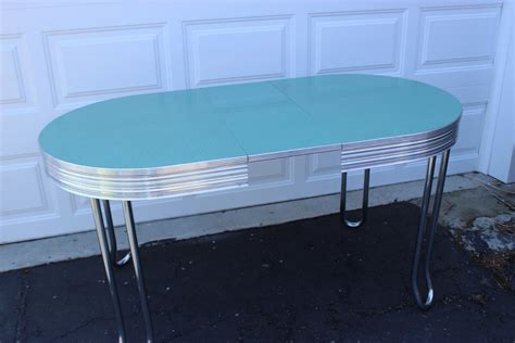 retro chrome kitchen table vintage retro mid century turquoise chrome oval kitchen table haute juice