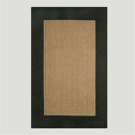 black indoor outdoor rug black border indoor outdoor rug world market