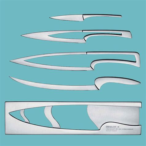 nesting kitchen knives deglon meeting nested knife set the green head