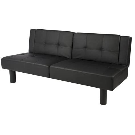 flip down sofa bed wakrays leather faux fold down futon sofa bed home