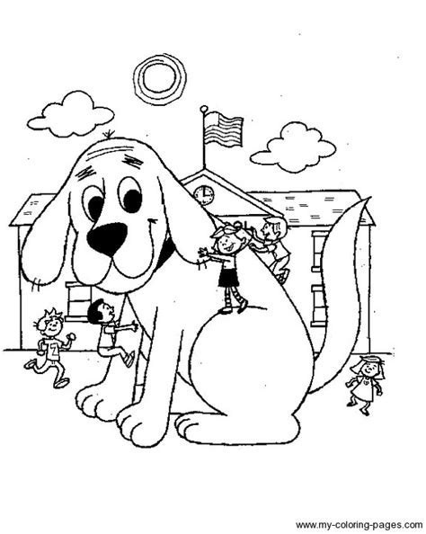 clifford autumn coloring pages clifford color pages print coloring pages for free