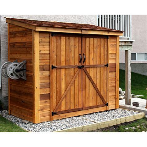 outdoor living today spacesaver  ft    ft  garden shed  double doors reviews wayfair