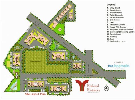 layout plan sector 56 faridabad era redwood residency flats 2 3 bhk sector 78 greater