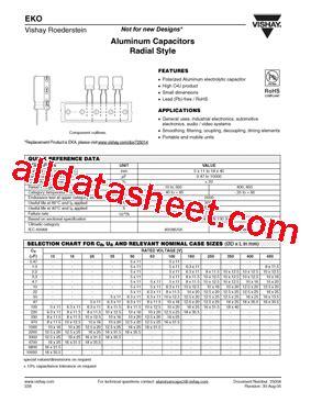vishay eke capacitor eko00de322j00 datasheet pdf vishay siliconix
